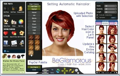 Upload your photo, try on  business office hairstyles
