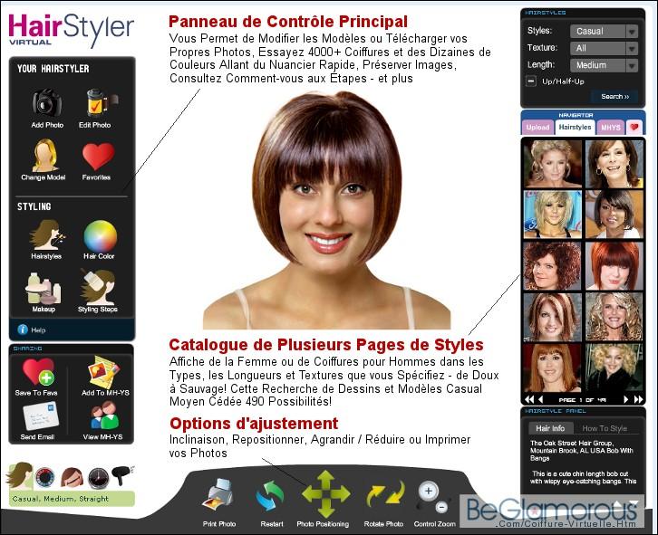 Simulation coiffure homme webcam