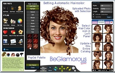 Astonishing Curly Hairstyles Try Them On Your Photo Online Virtual Colors Short Hairstyles For Black Women Fulllsitofus