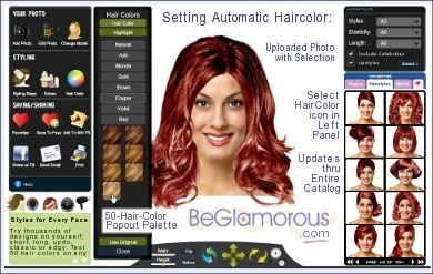 Change Hair Color Online - Upload Your Photo - Virtual Hair Color ...