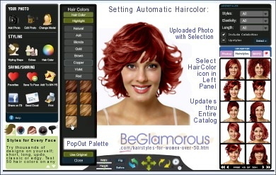 virtual hairstyles for women over 50   change hair colors