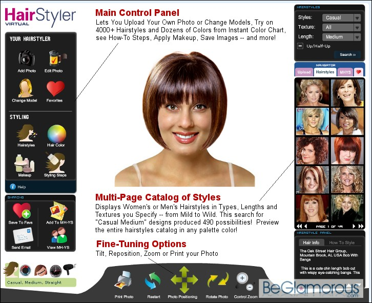 Online Virtual Hairstyle Selector for Men & Women