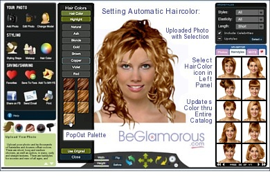 Amazing Round Face Hairstyles Upload Your Photo Test Hair Styles Hairstyles For Women Draintrainus