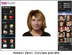 Change de coupe de cheveux virtuelle homme