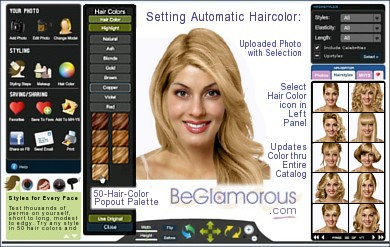 Change Hair Color Online Upload Your Photo Virtual