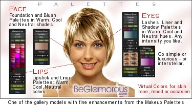 Enjoyable Virtual Hairstyle Selector Online Beglamorous Com Short Hairstyles Gunalazisus