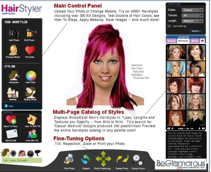 Sensational Try Scene Emo Hairstyles On Yourself Online Virtual Hair Short Hairstyles For Black Women Fulllsitofus