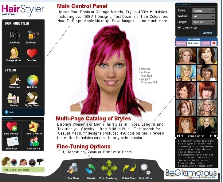 Sensational Try Scene Emo Hairstyles On Yourself Online Virtual Hair Short Hairstyles Gunalazisus