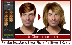 Virtual Hairstyles for Men,  for School, Office Work,  Business, or Everyday